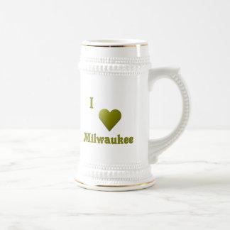 Milwaukee -- De color verde oscuro Jarra De Cerveza