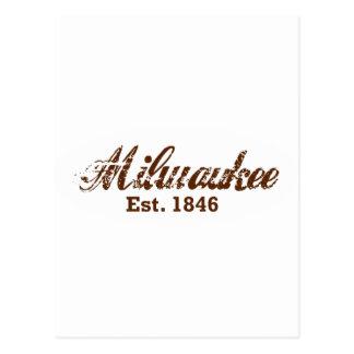 Milwaukee, est. 1846 tarjeta postal