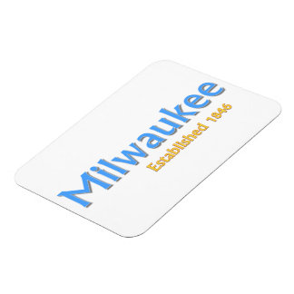 "Milwaukee Established 3""x4"" Flexible Magnet"