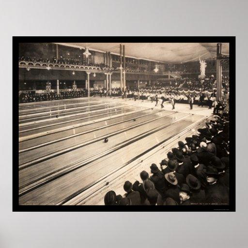 Milwaukee, foto que rueda 1905 de los WI I Póster