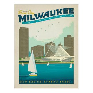Milwaukee Harbor, Wisconsin Postcard