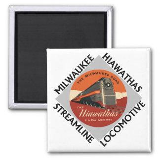 Milwaukee Hiawatha Railroad Magnet