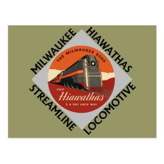 Milwaukee Hiawatha Railroad Postcard