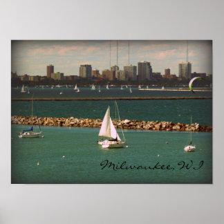 Milwaukee, horizonte de los WI Posters