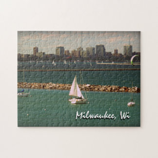 Milwaukee, horizonte de los WI Puzzles Con Fotos