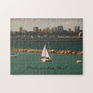 Milwaukee horizonte de los WI Puzzles Con Fotos