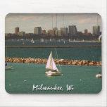 Milwaukee, horizonte de los WI Alfombrillas De Ratón