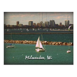 Milwaukee, horizonte de los WI Tarjeta Postal