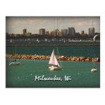 Milwaukee, horizonte de los WI Tarjetas Postales