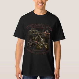 Milwaukee Iron more biker motorcycle live ton ride T-Shirt