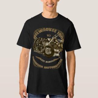 Milwaukee Iron of biker US flag choppers T-Shirt