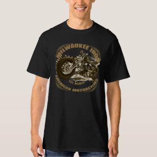 Milwaukee Iron of biker US flag more bobber motorc T-Shirt