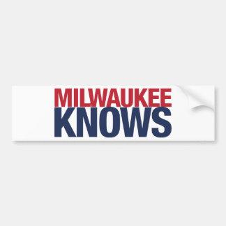Milwaukee Knows Bumper Sticker