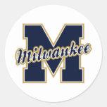 Milwaukee Letter Classic Round Sticker