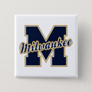 Milwaukee Letter Pinback Button