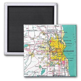 Milwaukee Refrigerator Magnet