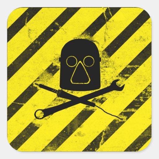 Milwaukee Makerspace Logo Square Sticker (Dirty)