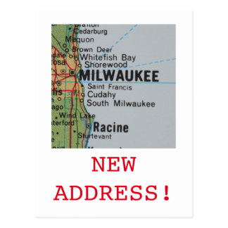 Milwaukee New Address announcement Postcard