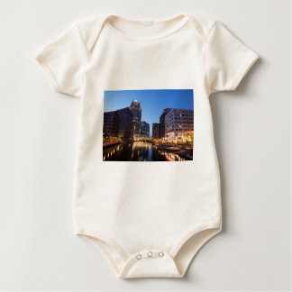 Milwaukee Night Skyline Baby Bodysuit