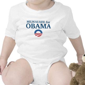 MILWAUKEE para el personalizado de Obama su ciudad Trajes De Bebé