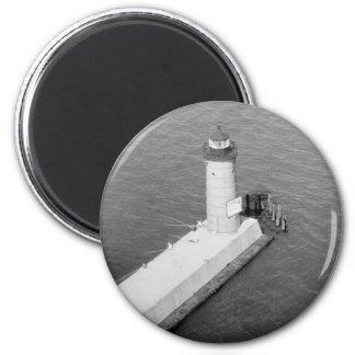 Milwaukee Pierhead Lighthouse 2 Inch Round Magnet