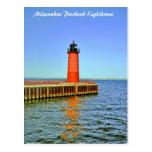 Milwaukee Pierhead Lighthouse, Lake Michigan Postcard
