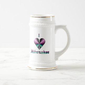 Milwaukee -- Púrpura y turquesa Jarra De Cerveza