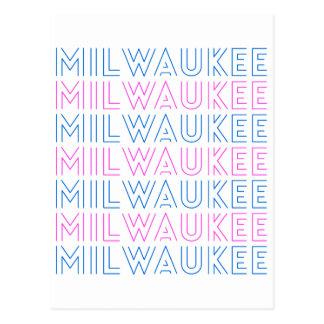 Milwaukee Retro Tile Design Postcard