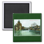 Milwaukee River, Milwaukee, Wisconsin 2 Inch Square Magnet