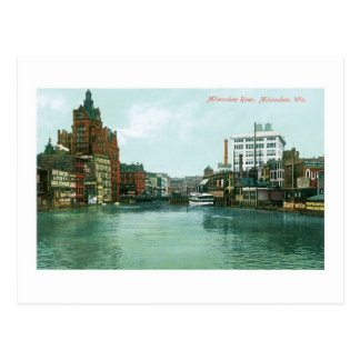 Milwaukee River, Milwaukee, Wisconsin Postcard