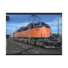 Milwaukee Road boxcab, electric #E34A_Trains Canvas Print