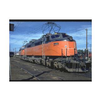 Milwaukee Road boxcab, electric #E34A_Trains Canvas Print