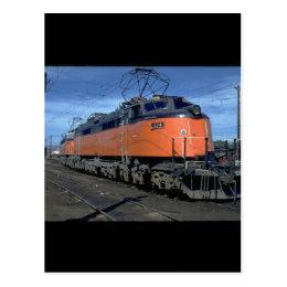 Milwaukee Road boxcab, electric #E34A_Trains Postcard