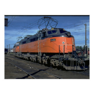 Milwaukee Road boxcab, electric #E34A_Trains Poster