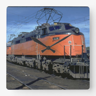 Milwaukee Road boxcab, electric #E34A_Trains Square Wall Clock