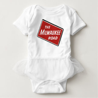 Milwaukee Road Railway Sign 2 Baby Bodysuit