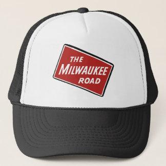 Milwaukee Road Railway Sign 2 Trucker Hat