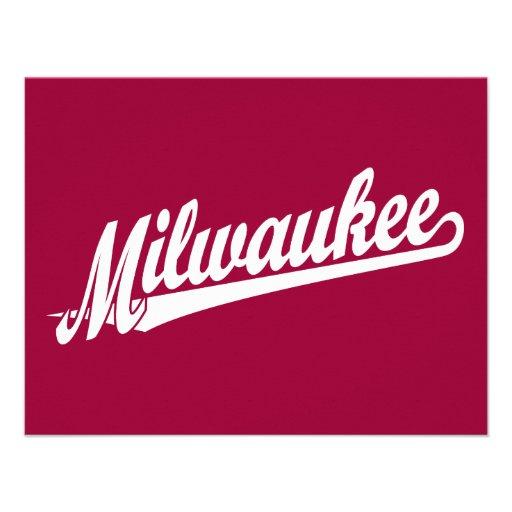 Milwaukee script logo in white announcement