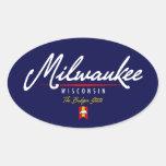 Milwaukee Script Oval Sticker