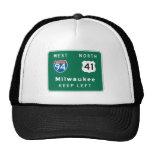Milwaukee, señal de tráfico de los WI Gorras