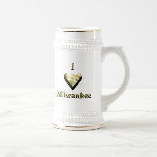 Milwaukee -- Shimmering Gold Beer Stein
