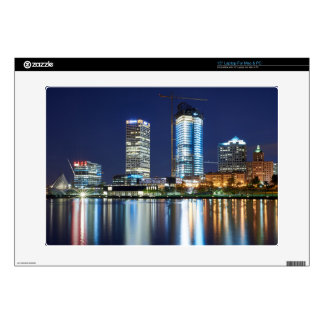 """Milwaukee Skyline at Night Decals For 15"""" Laptops"""