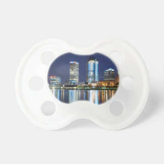 Milwaukee Skyline at Night Pacifier