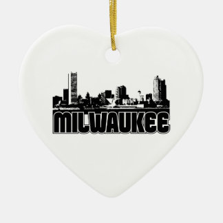 Milwaukee Skyline Ceramic Ornament