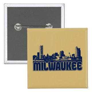 Milwaukee Skyline Pinback Button