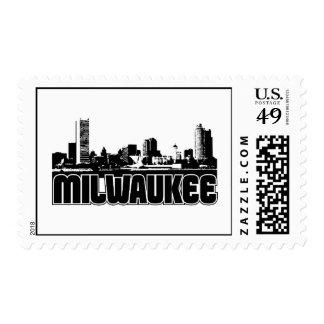 Milwaukee Skyline Postage Stamp