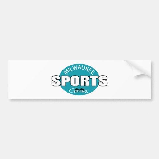 Milwaukee Sports Geeks Car Bumper Sticker