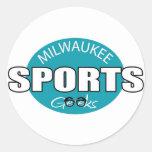 Milwaukee Sports Geeks Classic Round Sticker