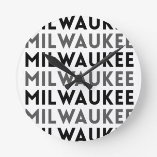 Milwaukee Tile Design Round Clock