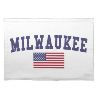 Milwaukee US Flag Cloth Placemat